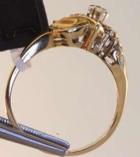 14k yellow gold diamond engagement ring estate vintage antique .92ct 4