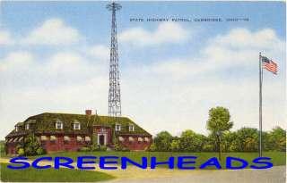 OLD Cambridge Ohio STATE HIGHWAY PATROL POST Postcard