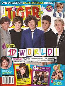 2012 TIGER BEAT Magazine ONE DIRECTION Posters June 1D Bieber Ross