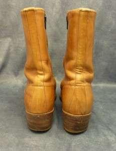 DINGO Western Cowboy Men Zipper Ankle Brown Boot 9D