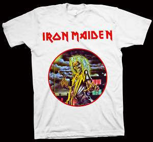 IRON MAIDEN Killers T Shirt METALLICA SLAYER MEGADETH