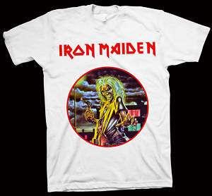 IRON MAIDEN Killers T Shirt METALLICA SLAYER MEGADETH