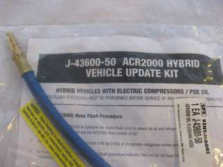 You are ing at a BRAND NEW SPX Kent Moore Hybrid A/C Oil Flush Kit