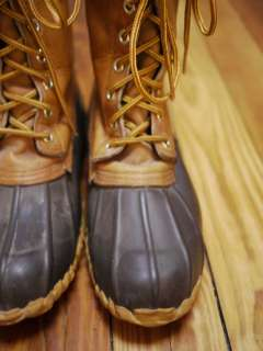 Vtg HERMAN SURVIVORS Leather Duck Rain Snow BOOTS 8 41