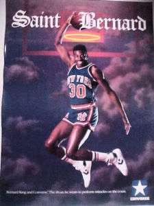 Converse Saint Bernard King Poster New York Knicks