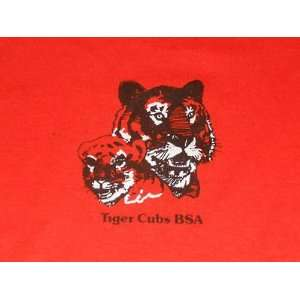 Tiger Cubs BSA Den Leader Shirt ORANGE Crew Neck ONEITA Mother Daddy
