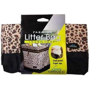 12482 Leopard Fashion Litter Bag Trash Trap Organizer Automotive