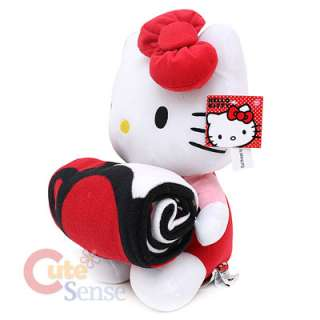 Sanrio Hello Kitty Plush Doll Blanket Red Bows 2