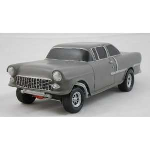 1955 CHEVY GASSER, GRAY, COLLECTIBLE 118 SCALE MODEL, HOT ROD, STREET