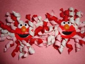 Toddler Girl KORKER VALENTINES DAY ELMO hair bow