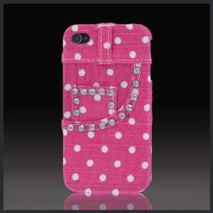 Real Jeans Bling Diamonds Pink Dots Denim denim textured