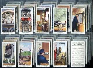 Tobacco Card Set, RAILWAY EQUIPMENT, Train, Locomotive, Railroad, 1938