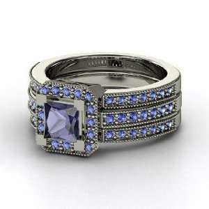 Va Voom Ring, Princess Iolite 14K White Gold Ring with