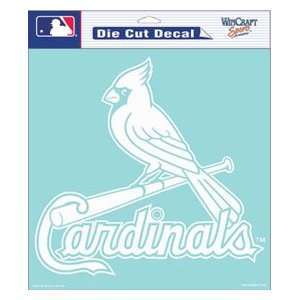 St. Louis Cardinals MLB Die Cut Decal 8 X 8 White