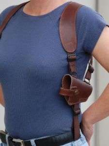 BROWN LEATHER SHOULDER HOLSTER Walther PP PPK PPKS