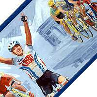 CYCLING WALL BORDER Sports Bicycle Race Cycle WALLPAPER
