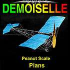 PEANUT SCALE DEMOISELLE SCALE MODEL AIRPLANE PLANS INCLUDES BUILDING