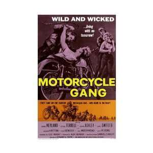 Motorcycle Gang Movie Poster, 11 x 17 (1957):  Home