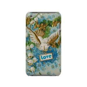 Vintage Love dove blue white flowers Case mate Ipod Touch