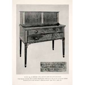 1939 Print Seymour Secretary Desk Cabinet Furniture Maker