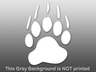 White Bear Paw Decal   sticker claw love car vinyl cub