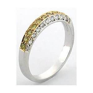 Mastini Angela Yellow and White Diamond Ring, 6.75