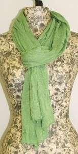 Charter Club Womens Thin Knit Scarf Shawl Wrap Apple Mint Green