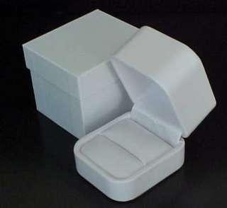 LEATHER Engagement Wedding Ring Jewelry Presentation Gift Box