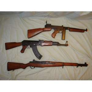 SET OF 3~AK 47~M1 GARAND~THOMPSON 45 WW2 REPLICAS NIB