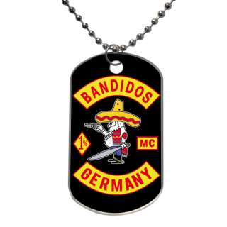 BANDIDOS GERMANY MC Motorcycle Club Tag Necklace