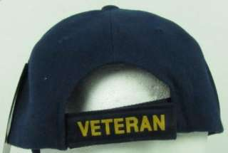 NEW BLUE US NAVY VIETNAM VETERAN BASEBALL CAP/HAT