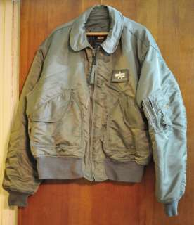 US Made Alpha Industries CWU 45 /P Flight Jacket USAF