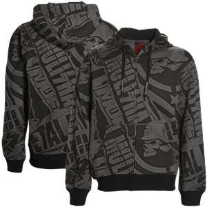 Metal Mulisha Black Charcoal Replicate Full Zip Hoody Sweatshirt