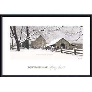 Art Poster Metal Framed Print   Heavy Snow   Artist: Bob