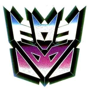 TRANSFORMERS Decepticon Blue Purple Mask Logo Iron On Transfer for T