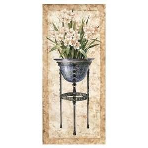 White Daffodils in an Iron Urn   Poster by Tan Chun (18x38