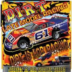 LATE MODEL DIRT TRACK RACING TSHIRT