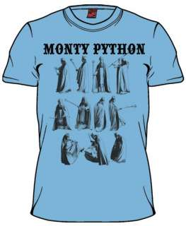 Monty Python Fed Up Light Blue Mens Shirt 10061