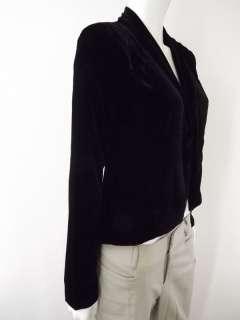 NWT $98 Womens black velvet open front tuxedo style blazer BB Dakota M