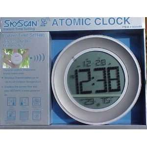 Round Atomic Clock With Jumbo Numbers & Outdoor Transmitter