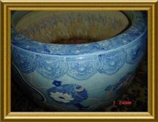ANTIQUE JAPANESE MEIJI PERIOF UNIQUE HUGE SIGNED PORCELAIN HIBACHI