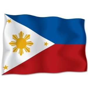 PHILIPPINES Flag car bumper sticker decal 6 x 4