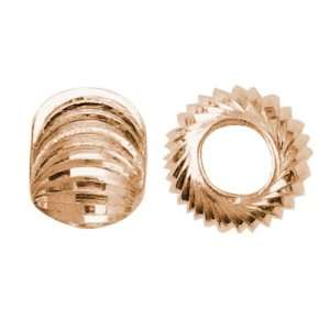 25pc 5mm Corrugated Round   Rose Gold Plate Arts, Crafts