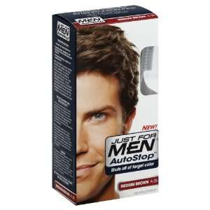 JUST FOR MEN Autostop Hair Color, Medium Brown: Beauty