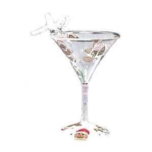 Lolita Martini Glass Christmas Ornament Gingerbread Man