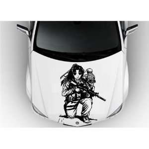 Anime Car Vinyl Graphics Girl with Guns S6881