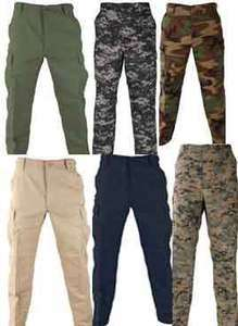 TACTICAL TWILL BDU PANTS POLICE & MILITARY CLOTHING NEW NWT