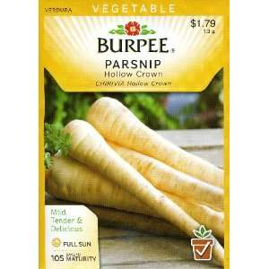 Burpee 50337 Parsnip Hollow Crown Seed Packet Patio, Lawn