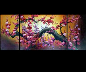 Chinese Cherry Blossom Painting Abstract Art on canvas