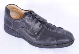 Johnston and Murphy Mens Bristow Black Leather Moc 11 Shoes
